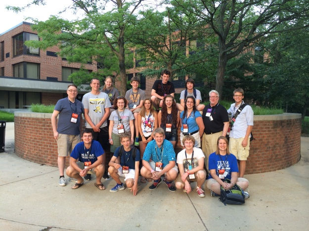 The delegation from the Diocese of Kansas at EYE '14 which was held at Villanova University in Philadelphia, PA.