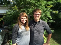 Sydney Webb and Tyler Kerr, summer youth ministry interns 2015