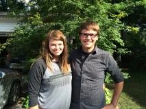 Sydney Webb and Tyler Kerr, summer youth ministry interns 2015