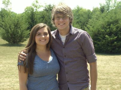 Rachel Haley and Tyler Kerr, interns from Summer 2012.