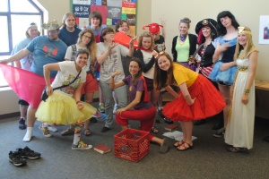 Junior High Camp Staff 2013 on Superhero Day.